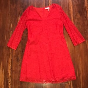 1 State Red lace dress